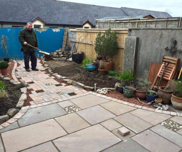 paving garden design landscaping in pembrokeshire