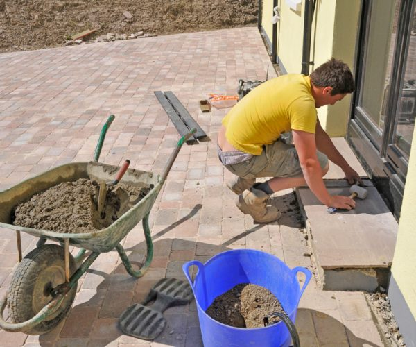 hard landscaping block paving laid in pembrokeshire