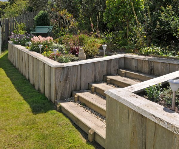 wooden garden pembrokeshire landscaping
