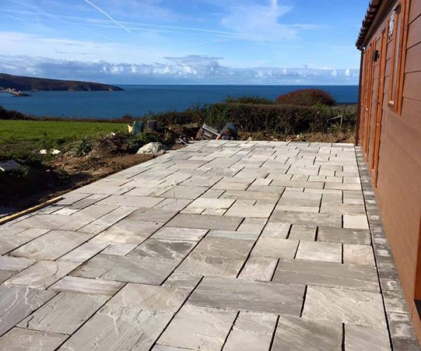 patio design landscaping in pembrokeshire